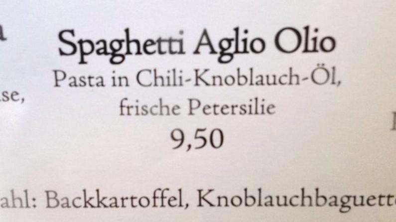 Spaghetti aglio e olio alemanys