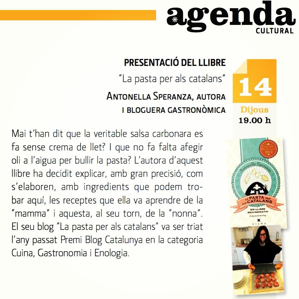 Presentació La pasta per als catalans Tarragona