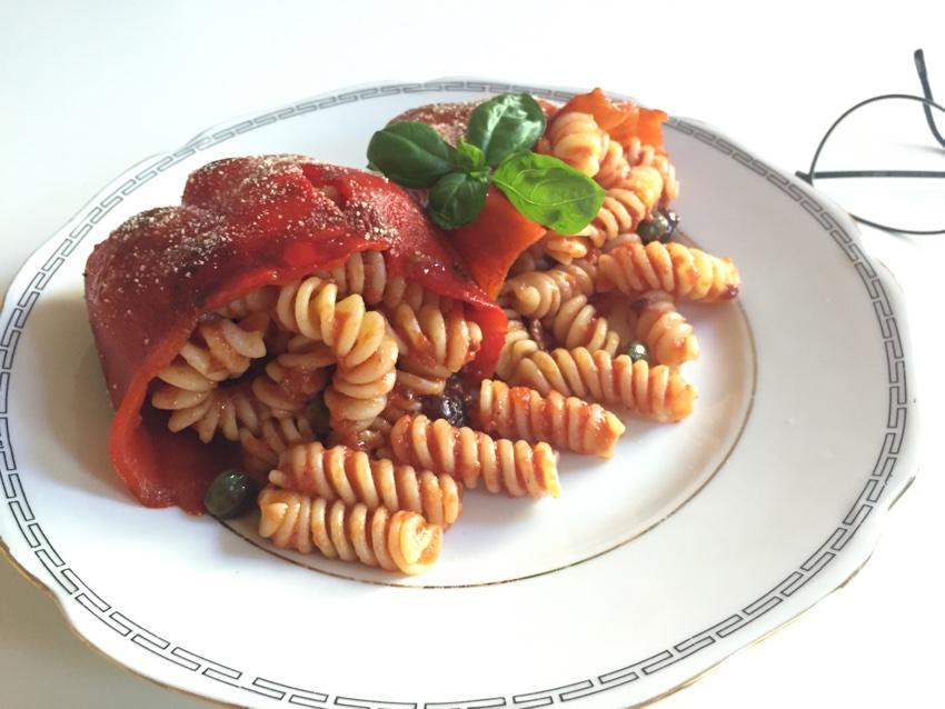 Pebrots farcits de pasta